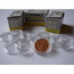 Kapsle na monety (10 sztuk) 21,5 mm