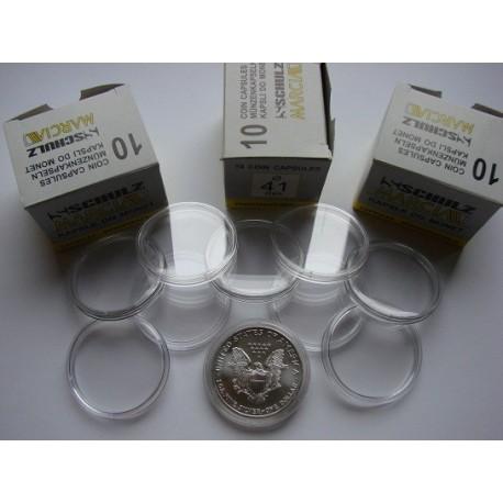 Kapsle na monety (10 sztuk) 41,0 mm