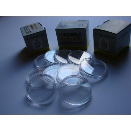 Kapsle na monety (10 sztuk) 39,0 mm